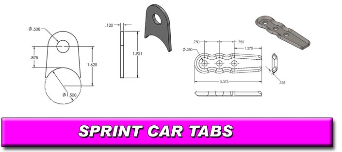Sprint Car Chassis Tabs