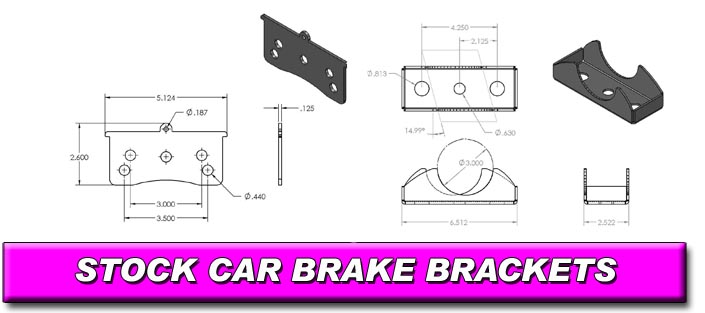 Stock Car Brake Brackets