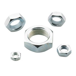"Picture of Zinc Plated Aluminum Jam Nut 3/8"" RH"