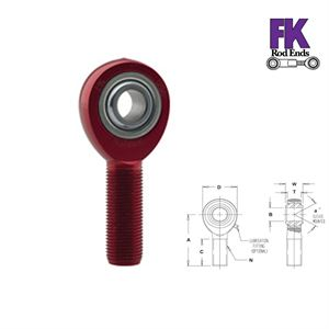 Picture of F.K. Rod End 5/8 X 1/2 Right Hand, Male Thread
