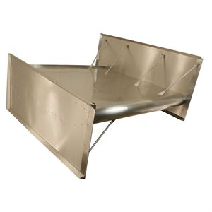 Picture of Sprint Car Top Wing, Flat, Recessed Rivet, Standard Boards With 1° Center Skew