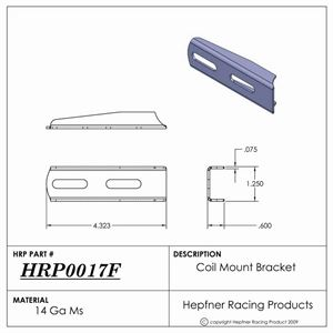 "Picture of Bracket, Coil Mount, 0.075"" Thick, MS"