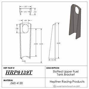 """Picture of Fuel Tank Upper Bracket, 4130, 0.060"""" Thick"""