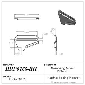 Picture of Bracket, Nose Wing Mount Plate, RH