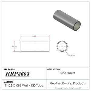 """Picture of Chassis Repair Tube, 6"""" Length, 0.095"""" Wall, 1.060"""" Dia Insert"""