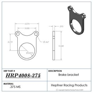 Picture of Cup Style Caliper Bracket, 0.375, MS