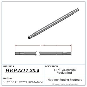"""Picture of 1 1/8"""" Dia x 5/8 Swedge Rod, 23.5"""" Long"""