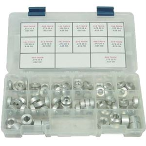 "Picture of Aluminum Spacer Kit, 70 Piece, Assorted Lengths, 0.437"" ID X 0.750"" OD"