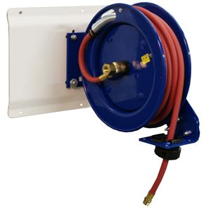 """Picture of Air Hose Retractable Reel, 25.0 foot Long, 3/8"""" ID Hose, By Cox Reels"""