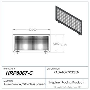 "Picture of Radiator Rock Screen, Aluminum With Stainless Steel, 20.0"" x 9.50"""