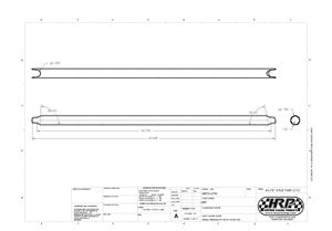 """Picture of 1.75"""" Axle Tube 43.75"""" Long 2/1 Camber"""