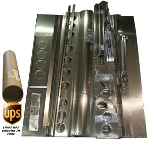 """Picture of Angled Super Board Top Wing 2 1/2"""" Recessed Rivet Kit"""
