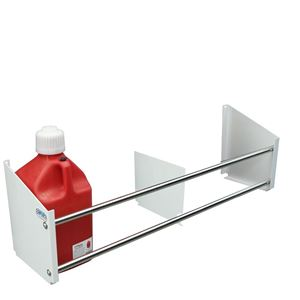 Picture of Jug Rack, Floor Mount, Holds Up To 4 Jugs, White Powder Coat End Plates