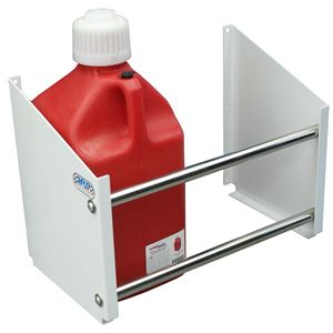 Picture of Jug Rack, Floor Mount, Holds Up To 2 Jugs, White Powder Coat End Plates
