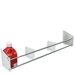 Picture of Jug Rack, Floor Mount, Holds Up To 6 Jugs, White Powder Coat End Plates