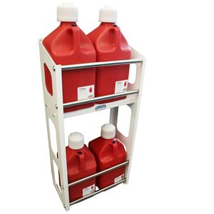Picture of Jug Rack, Two Level, Holds Up To 8 Jugs, White